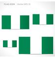 Nigeria flag template vector