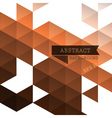 Abstract geometric brown background vector