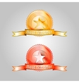Badges for the best offer vector