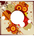 Abstract background with some circles different vector
