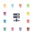 Net drive flat icons set vector