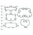 Hand drawn ornamental frames vector
