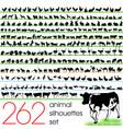 262 animals silhouettes set vector
