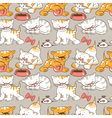 Funny cartoon kitten vector