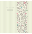 Hand floral greeting card vector