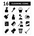 Set icons of cleaning vector