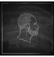 Vintage chalk of male head with beard on vector