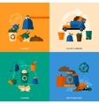 Garbage icons flat vector