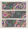 Set of decorative flower template banner vector
