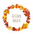 Autumn wreath vector