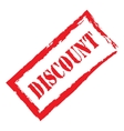 Red stamp discount vector