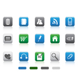 Web icon -color square series vector