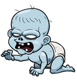 Cartoon zombie baby vector