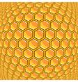 Design warped honeycomb pattern vector