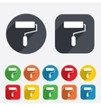 Paint roller sign icon painting tool symbol vector