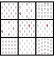 Seamless pattern of flat icons location set vector