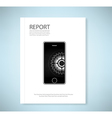 Cover report phone application vector