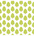 Seamless pattern with cute christmas tree vector