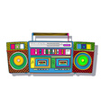 Pop art boombox vector