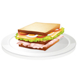 Bread sandwich vector