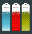 Merry christmas background vertical banner vector