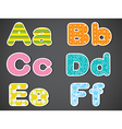 Letters of the alphabet vector