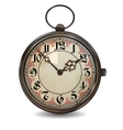 Rusty pocket watch vector