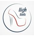 High heels logo vector