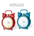 Set of classic alarm clock with bells on top vector
