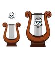 Cartoon greece musical lyre character vector