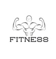 Bodybuilder fitness model silhouette design vector