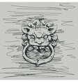 Lion china vector