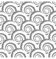 Design seamless monochrome spiral pattern vector