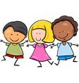 Multicultural children cartoon vector