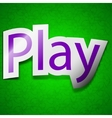 Play icon sign symbol chic colored sticky label on vector