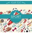 Circular concept of sports equipment sticker vector