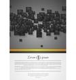 Abstract corporate tech flyer design vector