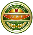 Apple vintage label vector