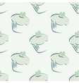 Tile mint green cupcake pattern or background vector