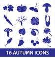 Autumn icons eps10 vector
