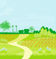 Eco farming - landscapes vector