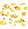 Chickens pattern vector