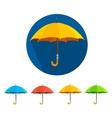 Colorful umbrellas set flat design vector