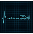 Heartbeat make ambulance text and symbol vector