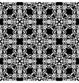 Seamless black and white pattern in arabic or vector