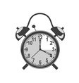 Retro black alarm clock vector