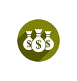 Money bag icon isolated vector