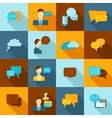 Chat icons flat vector