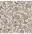 Pattern seamless floral beige vector