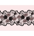 Seamless lace ribbon with abstract floral pattern vector